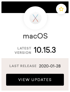 MacOS 10.15.3 release notes